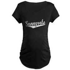 Sunnyvale, Retro, Maternity T-Shirt