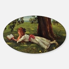 Reading Under A Tree Decal