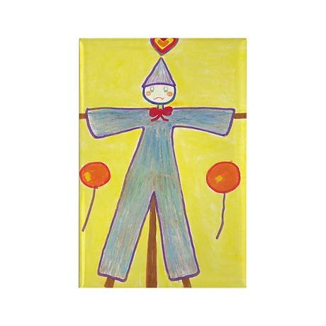 Yellow Scarecrow Rectangle Magnet