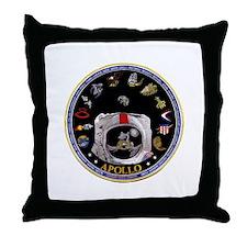 Crews of Apollo Throw Pillow