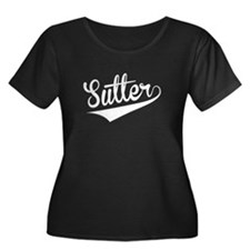 Sutter, Retro, Plus Size T-Shirt
