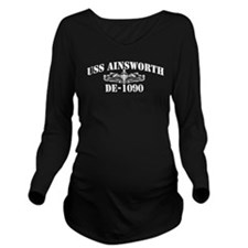 USS AINSWORTH Long Sleeve Maternity T-Shirt