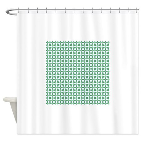 Retro Teal Green Pattern Shower Curtain By Clipartmegamart