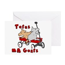 Totes MaGoats Red Wagon Greeting Cards