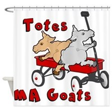 Totes MaGoats Red Wagon Shower Curtain