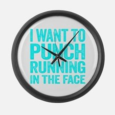 I Want To Punch Running In The Face Large Wall Clo