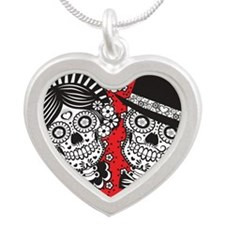 Sugar Skull Couple Necklaces