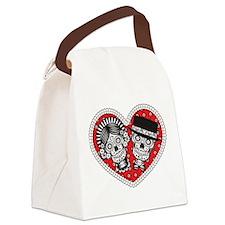 Sugar Skull Couple Canvas Lunch Bag