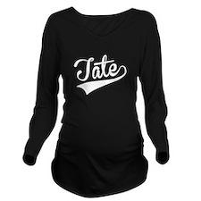 Tate, Retro, Long Sleeve Maternity T-Shirt