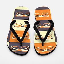 Hipster Glasses Flip Flops