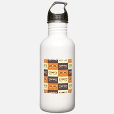 Hipster Glasses Water Bottle