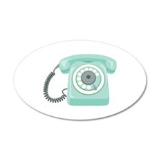 Retro Vintage Rotary Telephone Wall Decal