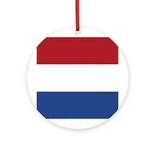 Netherlands Flag Ornament (Round)