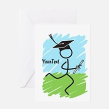 Customize Graduate Runner © Greeting Card
