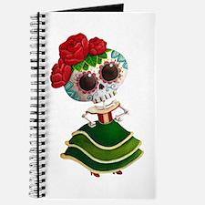 El Dia de Los Muertos Skeleton Girl Journal