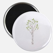 Spring Birch Tree Blooming Flowers Magnets