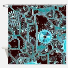 steampunk,gears Shower Curtain