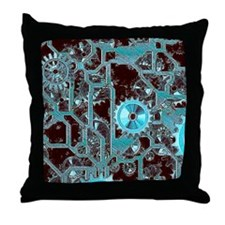 steampunk,gears Throw Pillow