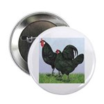 La Fleche Rooster and Hen Button