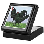 La Fleche Rooster and Hen Keepsake Box