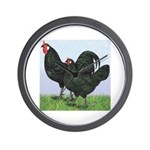 La Fleche Rooster and Hen Wall Clock