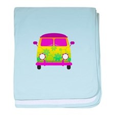 Groovy Van baby blanket