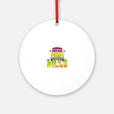 Love Bus Ornament (Round)