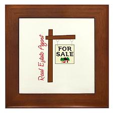 Real Estate Agent For Slae Framed Tile