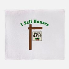 I SELL HOUSES FOR SALE Throw Blanket