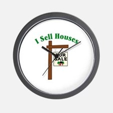 I SELL HOUSES FOR SALE Wall Clock