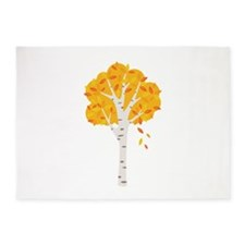 Fall Autumn Birch Tree Changing Leaves 5'x7'Area R