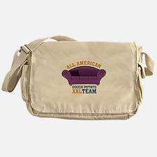 ALL AMERICAN - COUCH POTATO XXL TEAM Messenger Bag