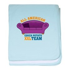 ALL AMERICAN - COUCH POTATO XXL TEAM baby blanket