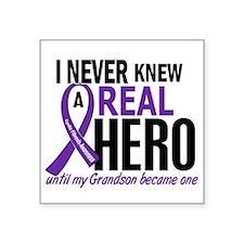 "Cystic Fibrosis Real Hero 2 Square Sticker 3"" x 3"""