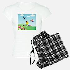 Retired Chick, Flowers and  Pajamas
