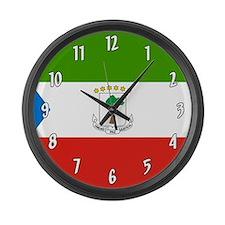 Equatorial Guinea Flag Large Wall Clock
