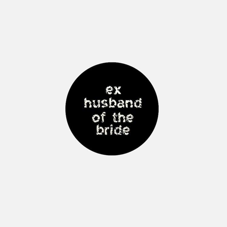 Ex-Husband of the Bride Black Mini Button