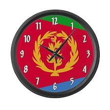 Flag of Eritrea Large Wall Clock