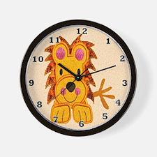 Cuddly Lion Wall Clock