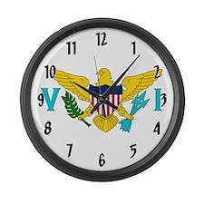 U.S. Virgin Islands Flag Large Wall Clock