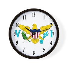 U.S. Virgin Islands Flag Wall Clock