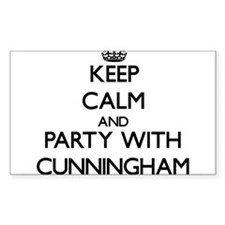 Keep calm and Party with Cunningham Decal