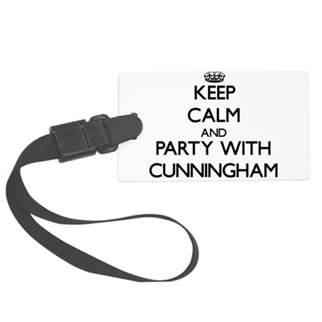 Keep calm and Party with Cunningham Luggage Tag