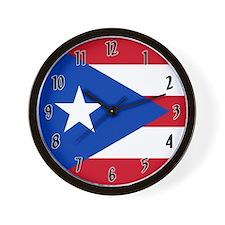 Flag of Puerto Rico Wall Clock