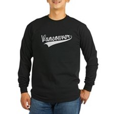 Vancouver, Retro, Long Sleeve T-Shirt