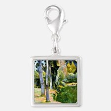 Large Trees, Paul Gauguin pai Silver Square Charm