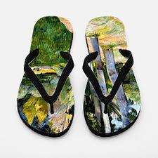 Large Trees, Paul Gauguin painting Flip Flops