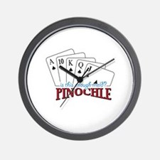 is this enough-meld PINOCHLE Wall Clock