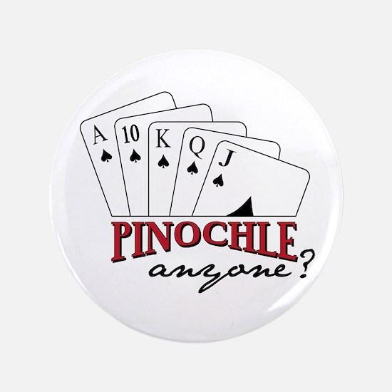 """PINOCHLE amzone? 3.5"""" Button"""