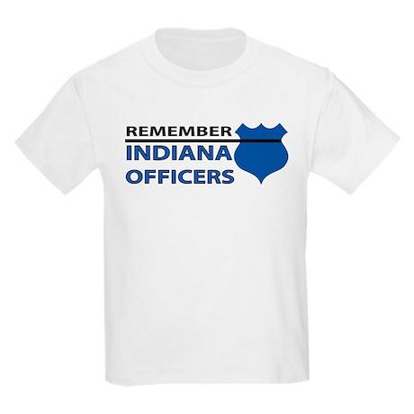 Remember Indiana Officers Kids Light T-Shirt